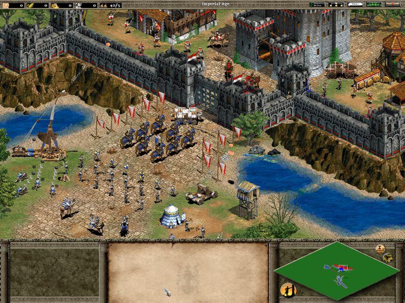 Estrategas de sill n age of empires the conquerors - Construction en rondins empiles ...