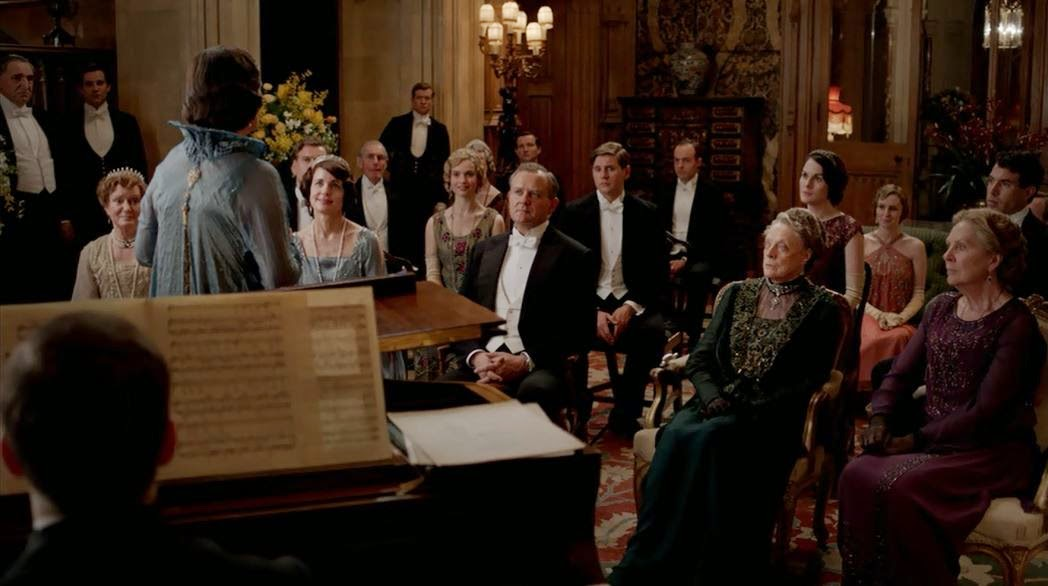Dame Nellie Melba sings at Downton Abbey