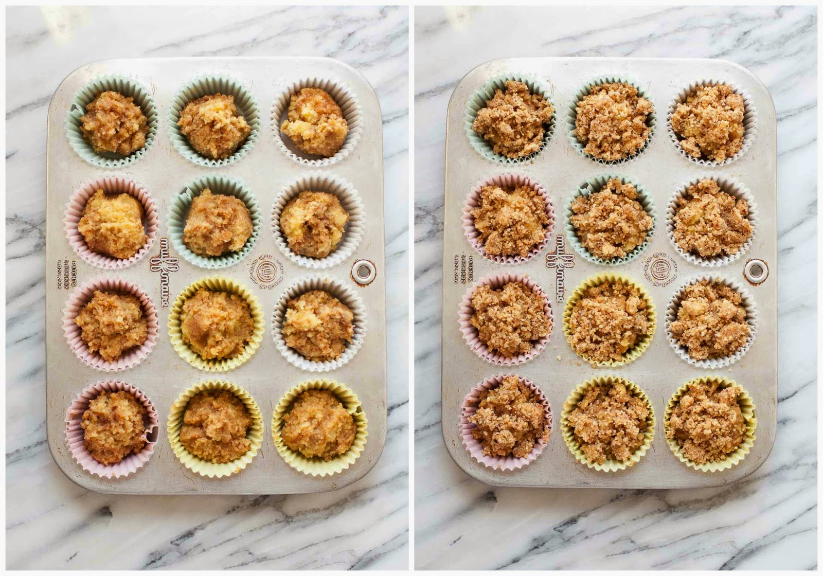 Grain-free Coffee Cake Muffins | acalculatedwhisk.com