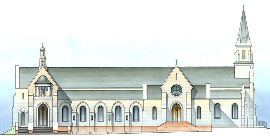 Church Elevation Plan : New liturgical movement mccrery reconfiguring holy cross