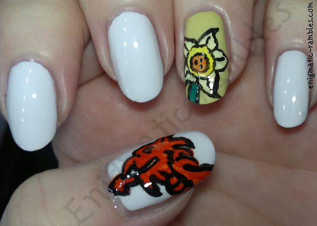 welsh-wales-st-davids-day-nails-nail-art-daffodil-dragon