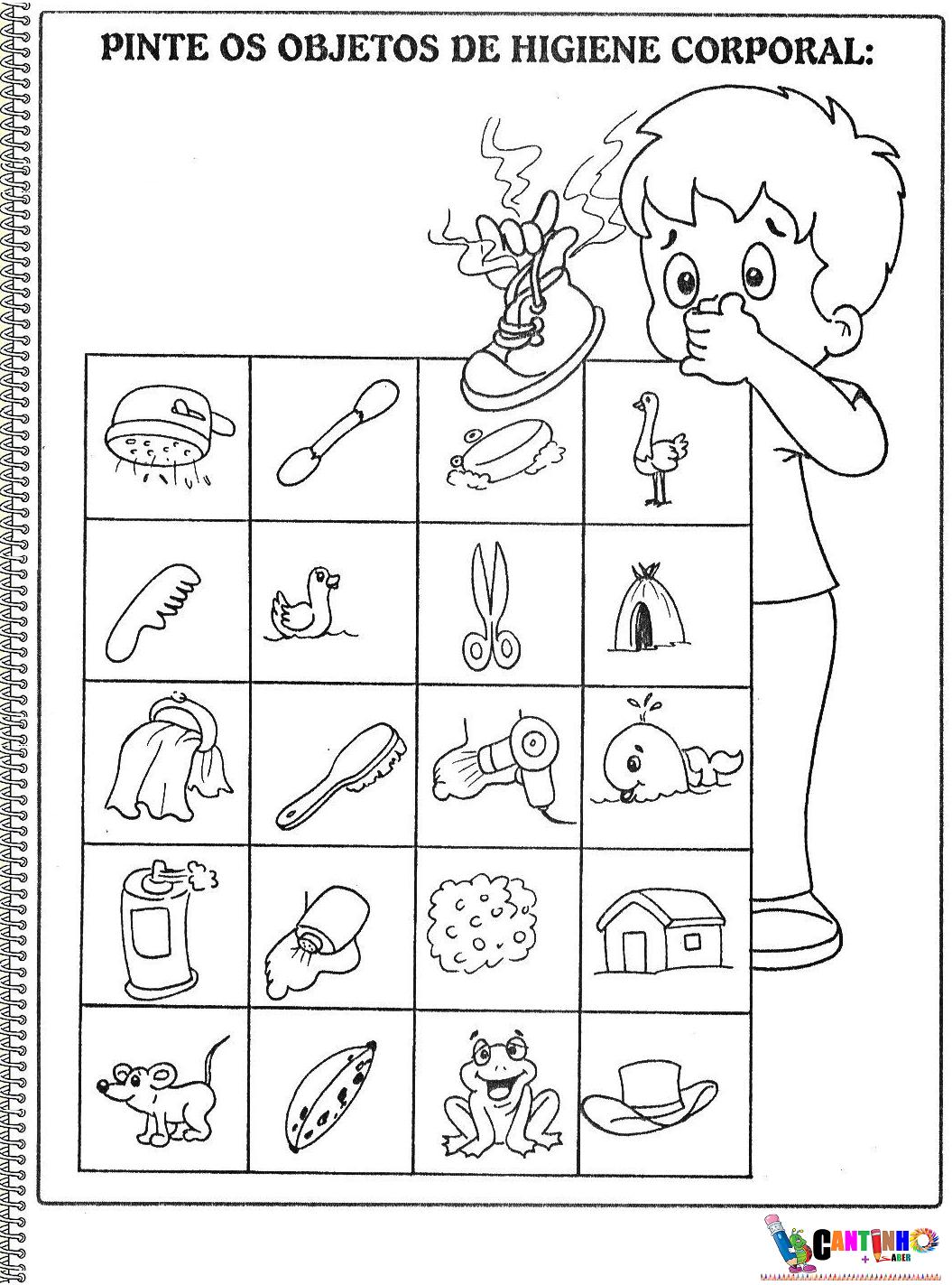 Conhecido CANTINHO + SABER: Objetos de Higiene pessoal - Atividades 2º Ano SG81