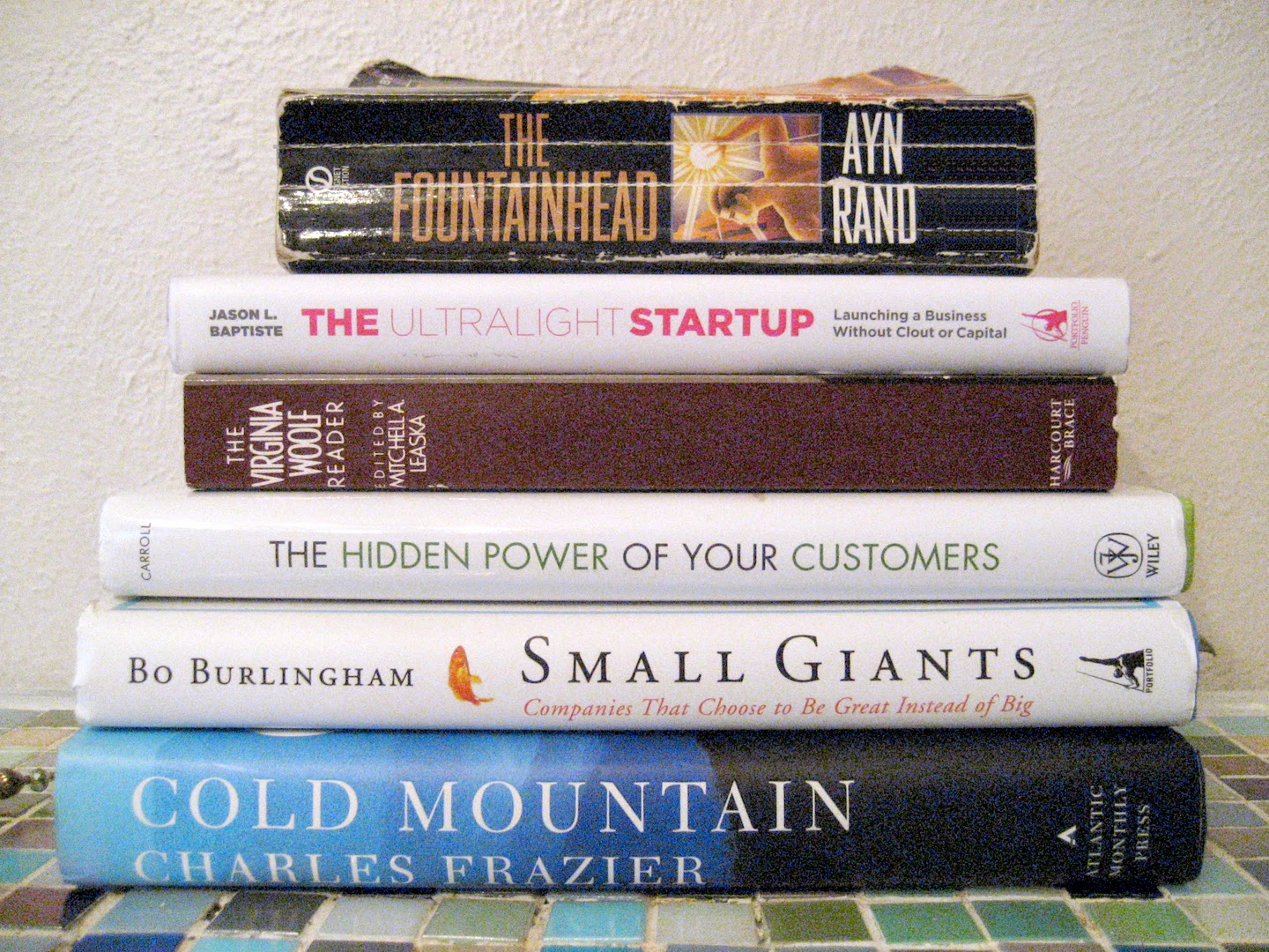 Snapshot of books in my To Read Next pile.