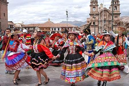 Fiesta en los Andes peruanos