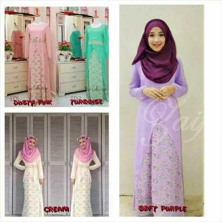 Now Available Flower Dress Ada Color Pink, Purple Cream & Turquoise.