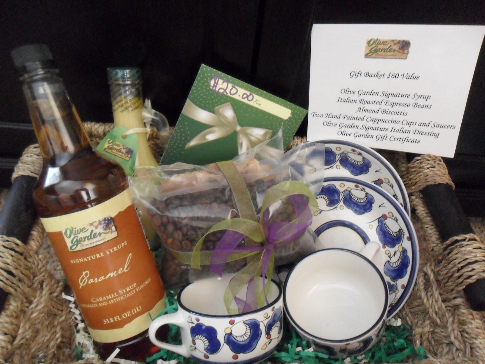 Go Team Anthony Olive Garden Gift Basket Gift Card