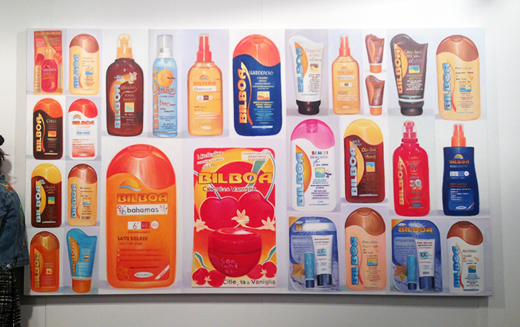 Fashion Over Reason at Art Basel Miami, sunblock art