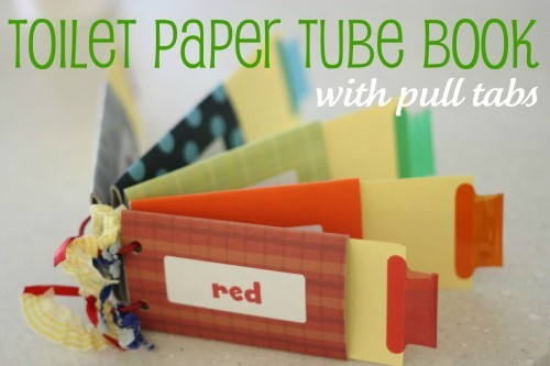 toilet paper tube book with pull tabs