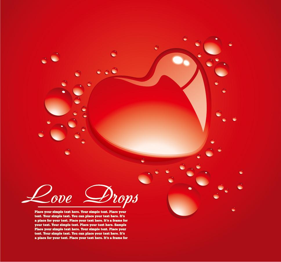 美しく輝くハートの背景 beautiful heartshaped vector love theme イラスト素材3