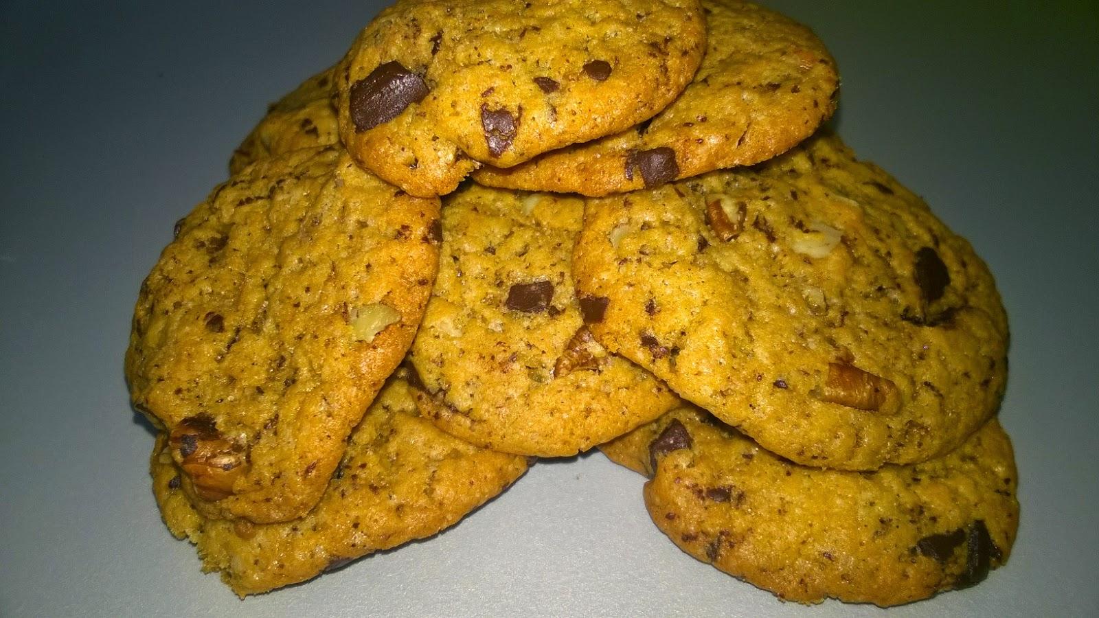 Cookies aux spéculos, choco, noix