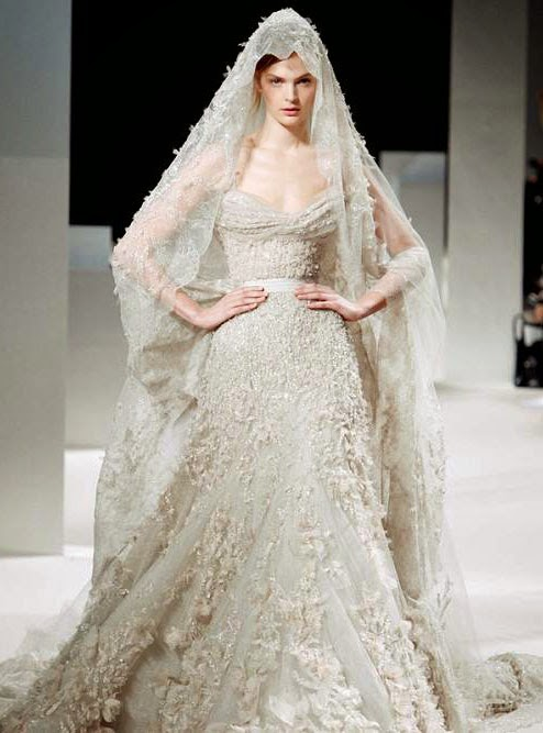 Elie Saab Wedding Dresses Lace 2014 Photos HD Concepts Ideas