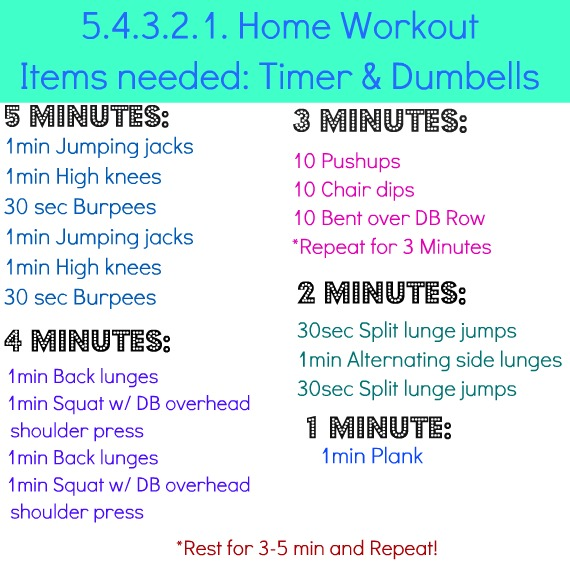 Here Is An Easy At Home Workout That You Can Either Do Once Or 2 3 Times If Dont Have Weights Just Use Something Weighted Form Around The Housethen