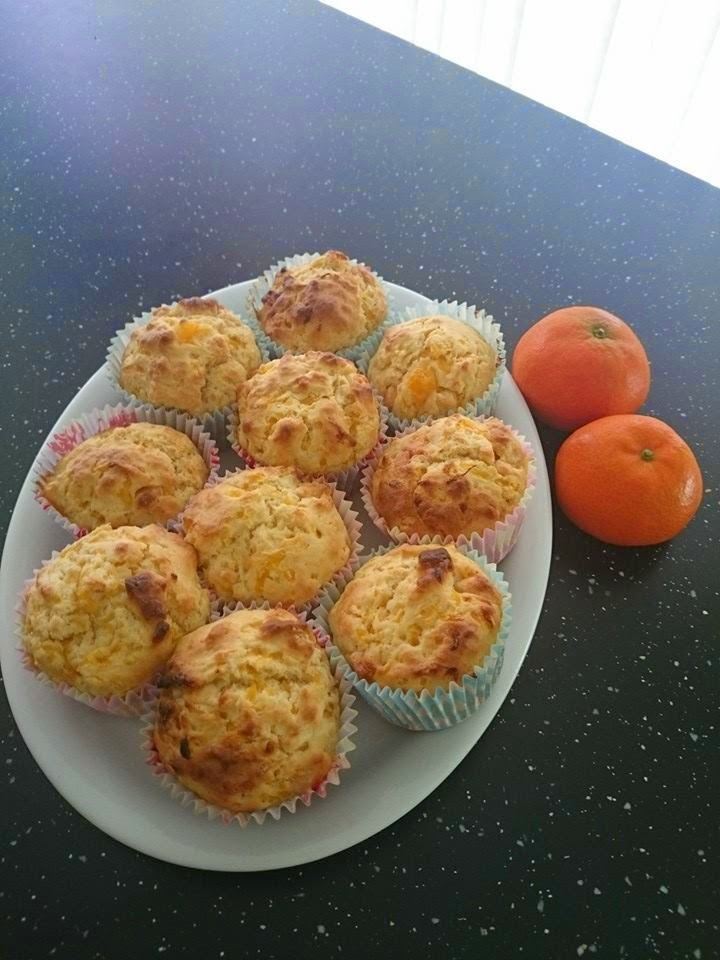 Weekend Bake -  Mandarin and white chocolate muffins