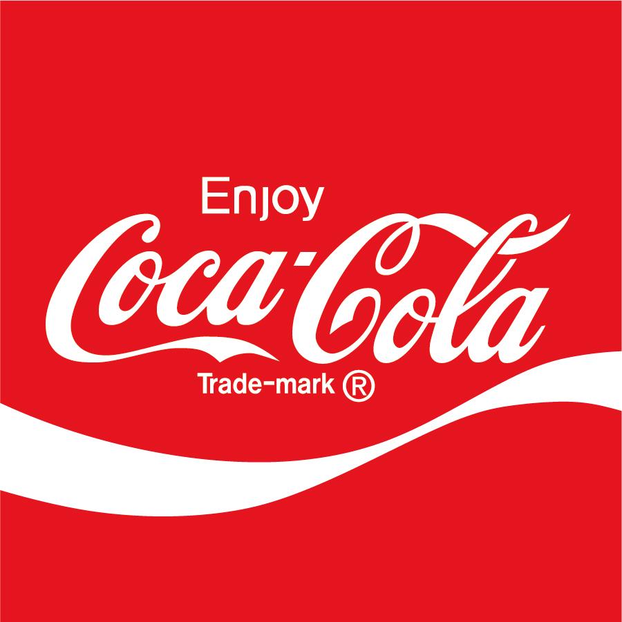 コカコーラのロゴデザイン Coca-Cola logo イラスト素材