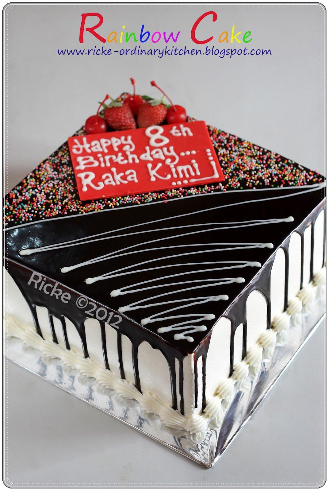 RAINBOW CAKE FOR KIMIS BIRTHDAY 1000 Aneka Resep Masak