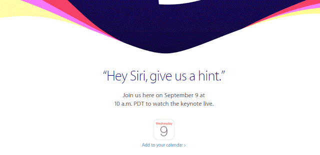 Apple event 2015