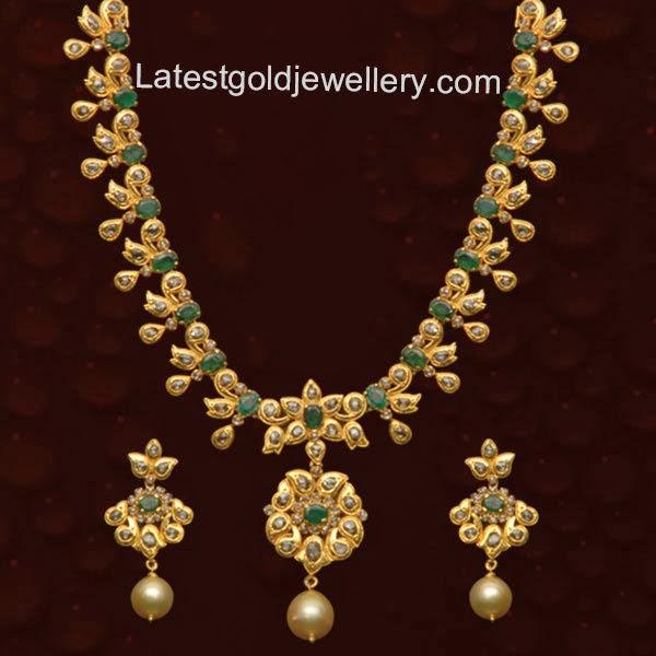 Uncut Diamond Necklace Latest Gold Jewellery Designs