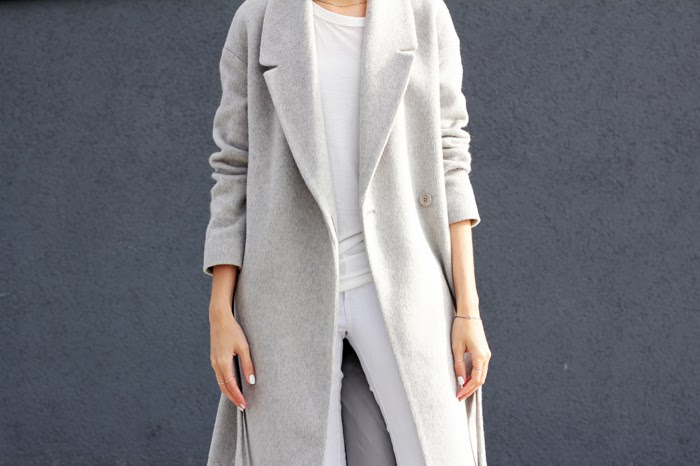 shopping grey wool coat