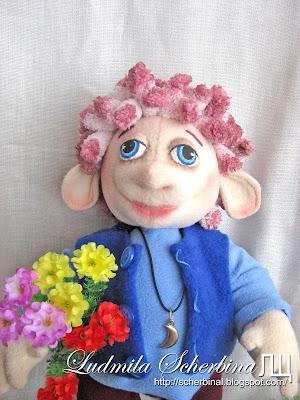 Текстильная игровая кукла игрушка Троллик