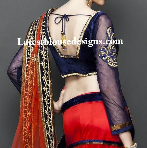 long sleeves blouse designs