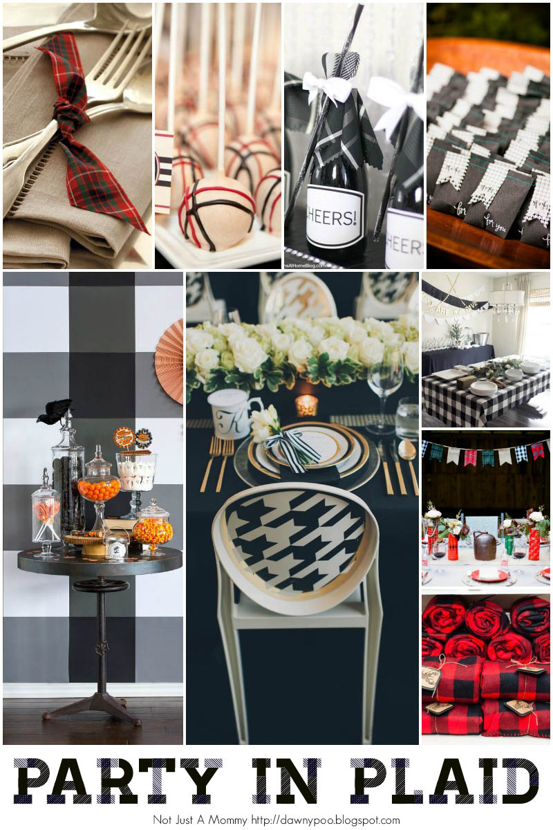 Great ways to use plaid at your next party!