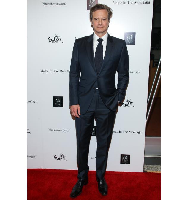 El actor Colin Firth muy elegante