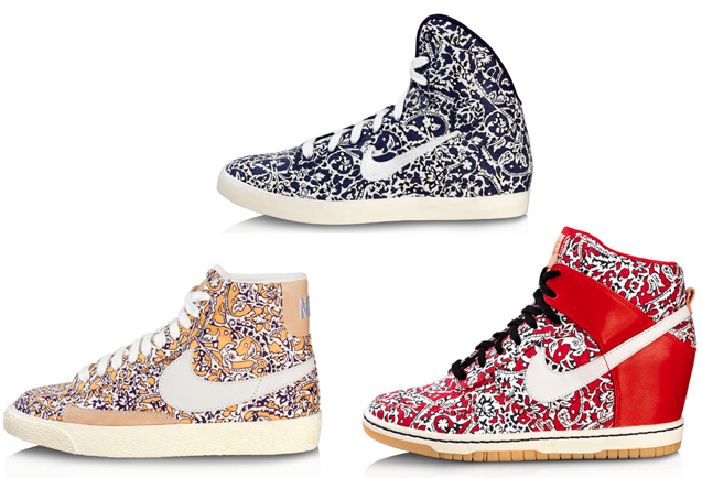 Liberty Print Nike High tops