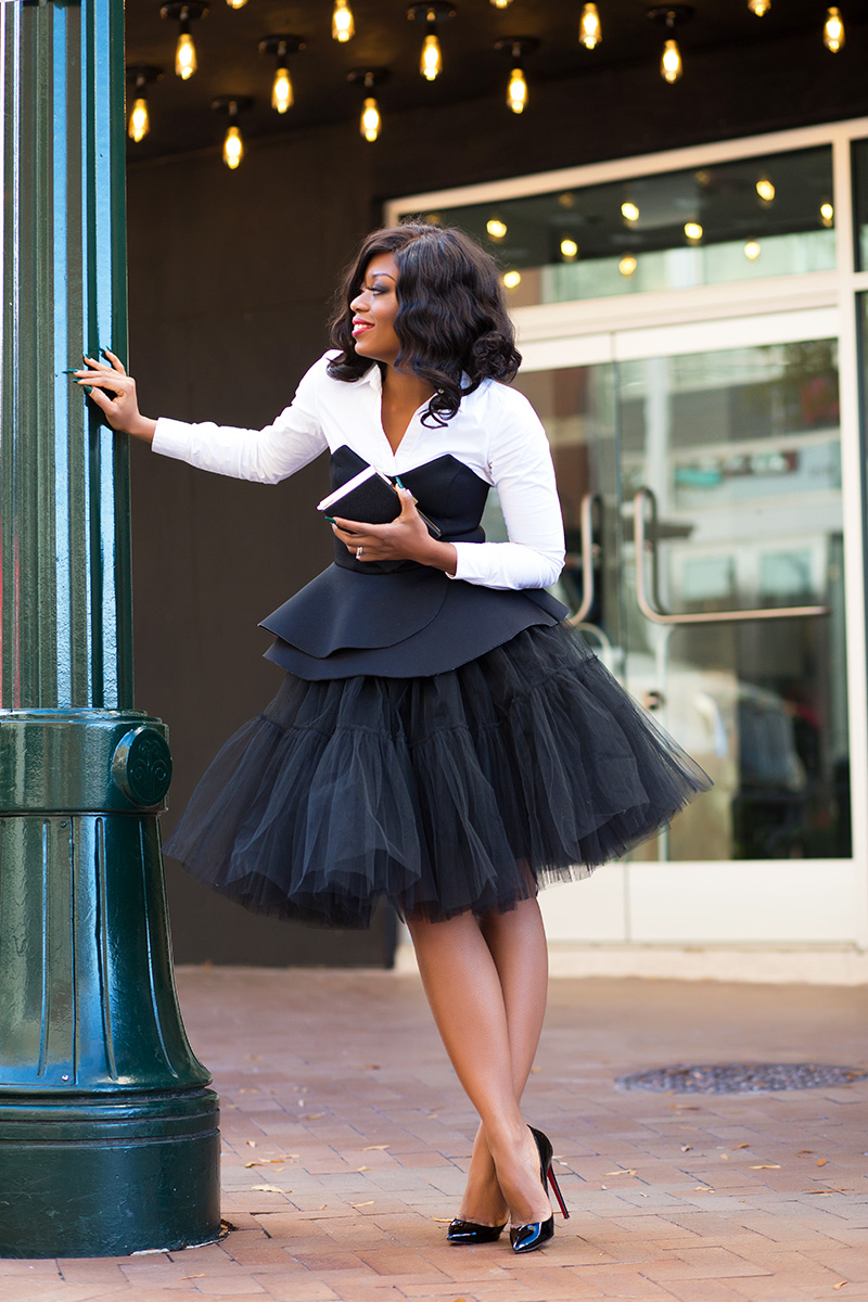 Tulle skirt, holiday outfit, www.jadore-fashion.com