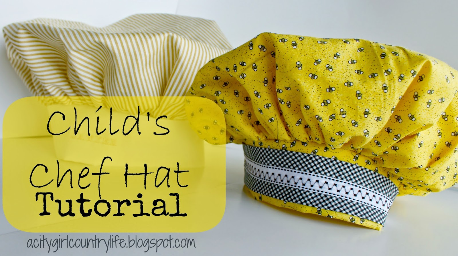 city girl country life child s chef hat tutorial