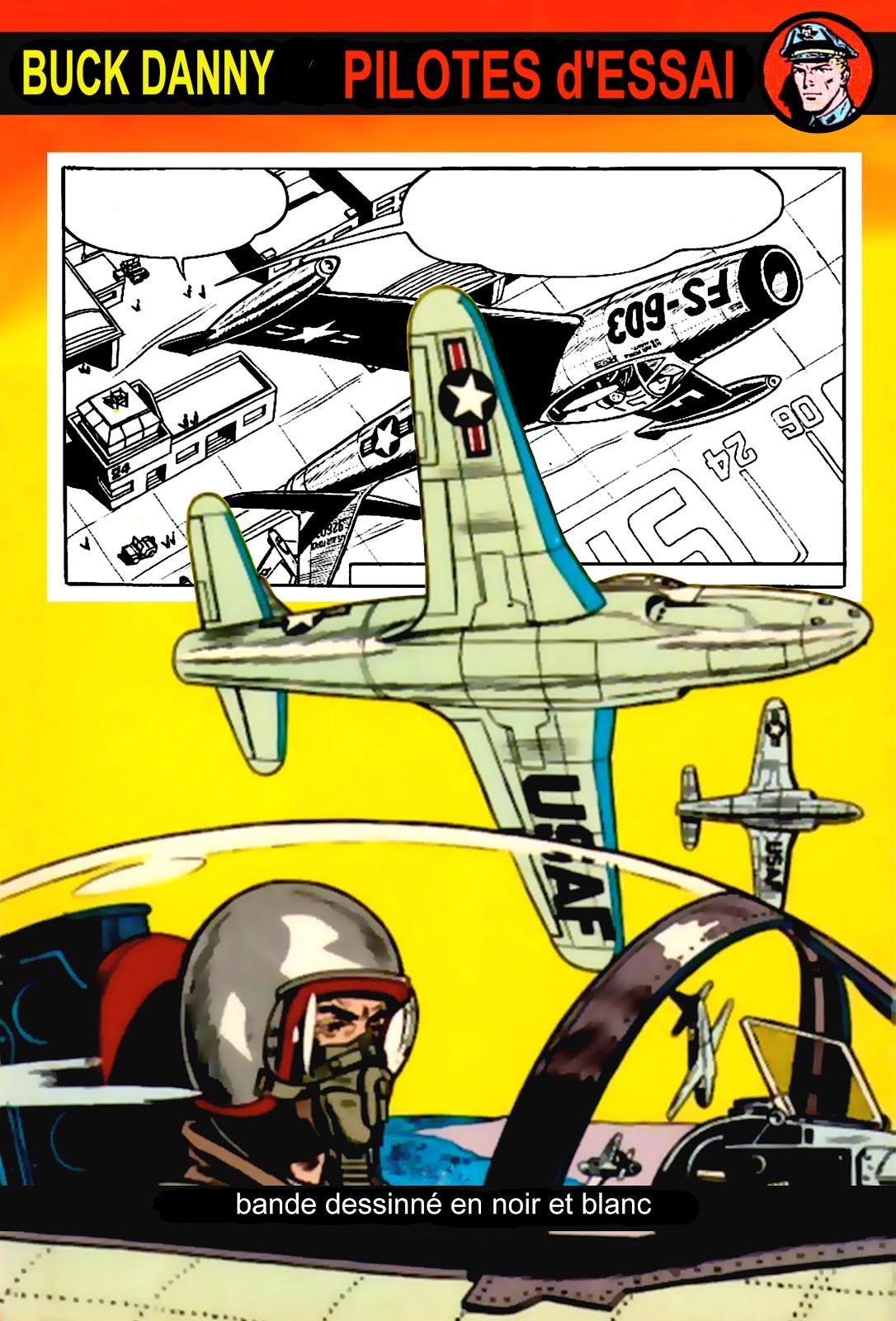Buck Danny en noir / blanc - Pilotes d'Essai - Charlier & Hubinon