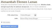 Cara menambah widget instal otomatis di blog