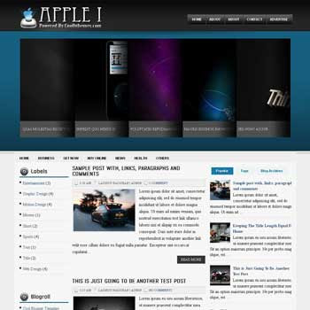 Apple I blogger template. blogger template 3 column footer. template blogspot 3 column footer