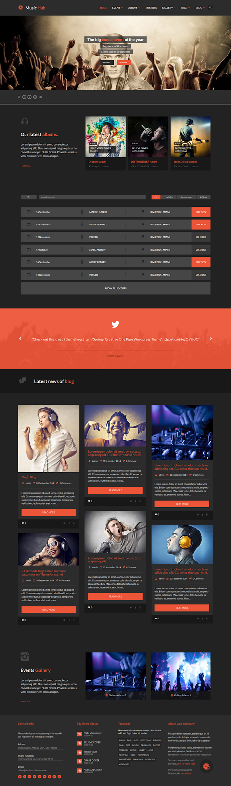 Premium Music WordPress Theme