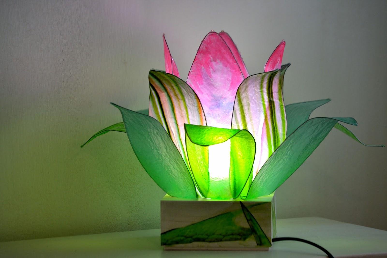 Fiore di luce lampade artistiche, lotus flower: gennaio 2016