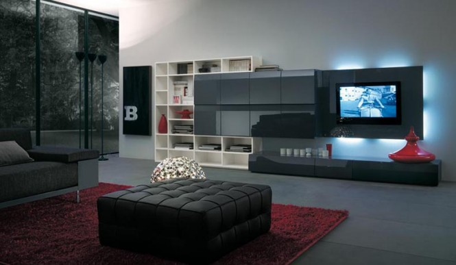 Modern TV Wall Unit Design