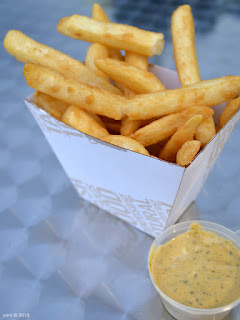 chimi fries and sauce