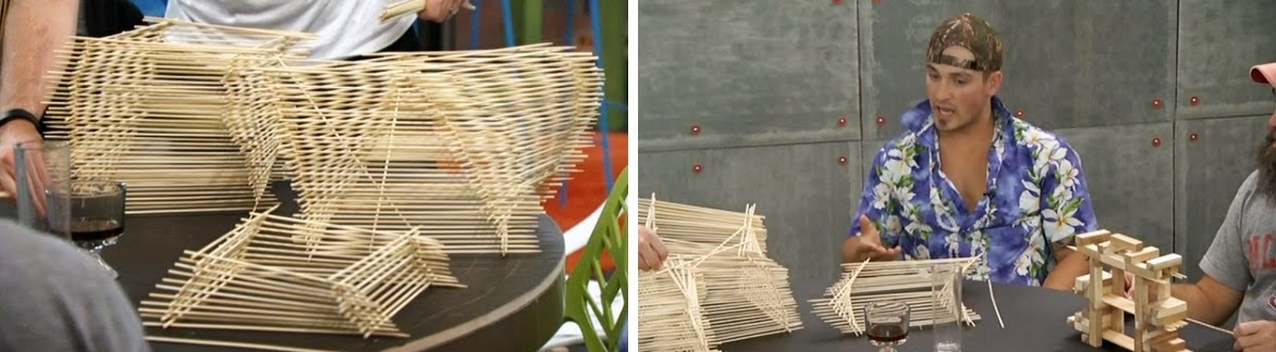 Backyard Pov At Night : and Derrick are talking about what would happen if Donny wins the Pov