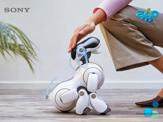 إعلان شركة سوني لآيبو الكلب الأليف