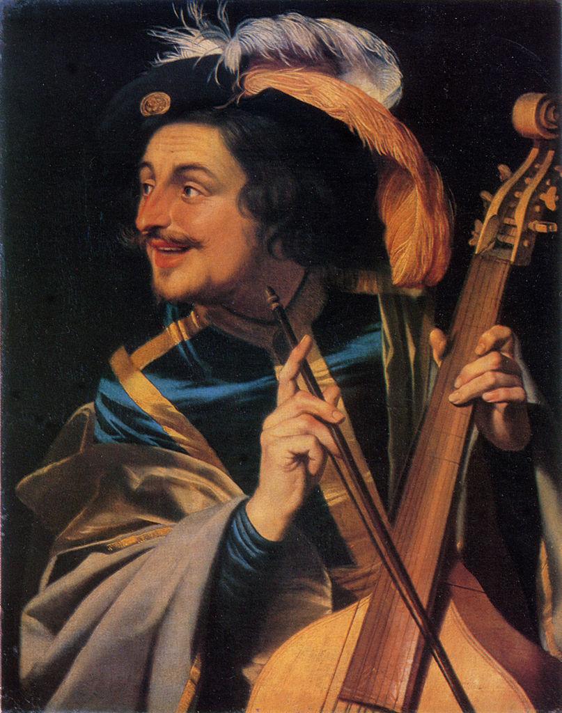 Gerard van Honthorst, Hombre con viola de gamba (1631)