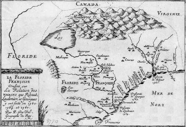 Peta Fort Caroline