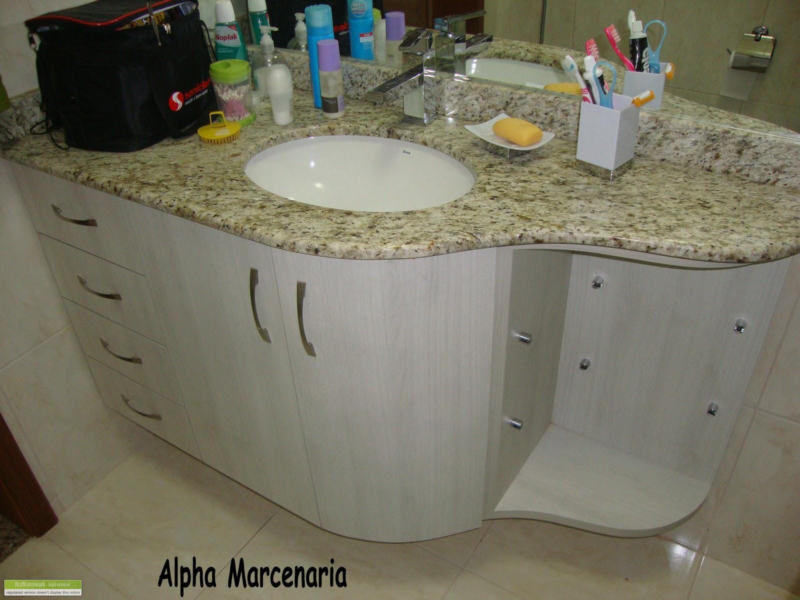 ALPHA MARCENARIA MÓVEIS SOB MEDIDA: Armário de banheiro redondo #25708A 1600x1200 Armario Banheiro Sob Medida