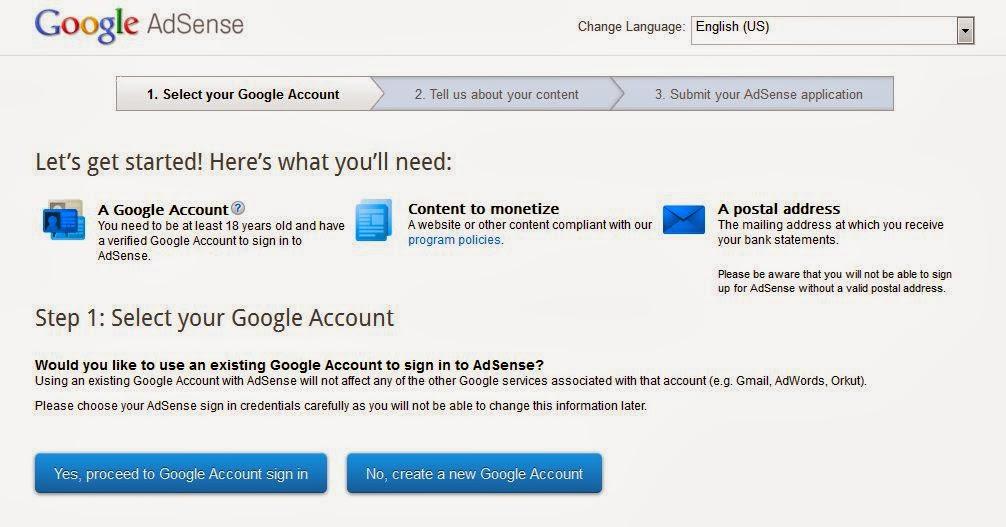 Step by Step Cara Daftar Google AdSense