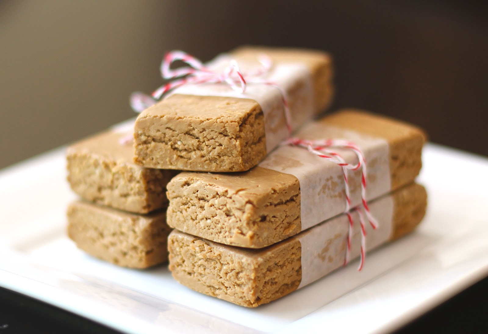 Healthy Homemade Peanut Butter Fudge Protein Bars (sugar free, gluten free, vegan)