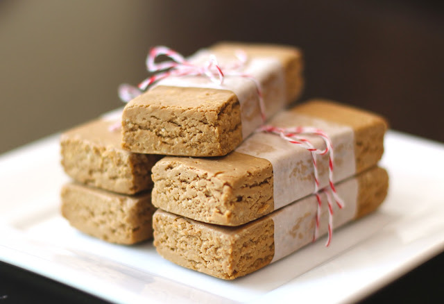 Healthy Peanut Butter Fudge Protein Bars