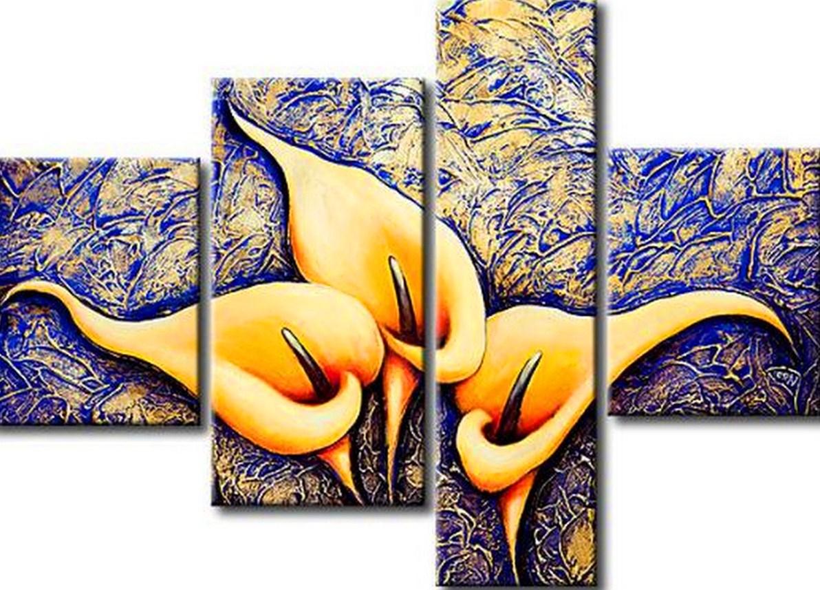 Im genes arte pinturas cuadros con flores modernos for Imagenes de cuadros abstractos rusticos