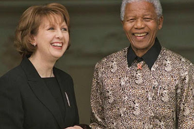 Nelson Mandela photographed with the former Irish president Mary McAleese (Photo: Irish Times)