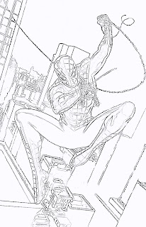 The amazing spider man coloring pages for The amazing spider man 2 coloring pages