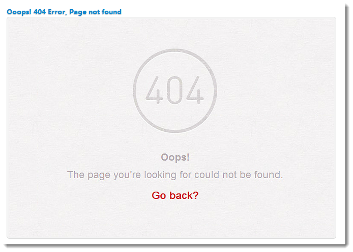 BlogSpot Custom 404 error page