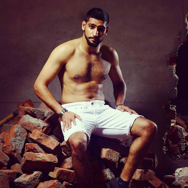 Boxer Amir Khan Goes Shirtless for Pepe Jeans Photoshoot