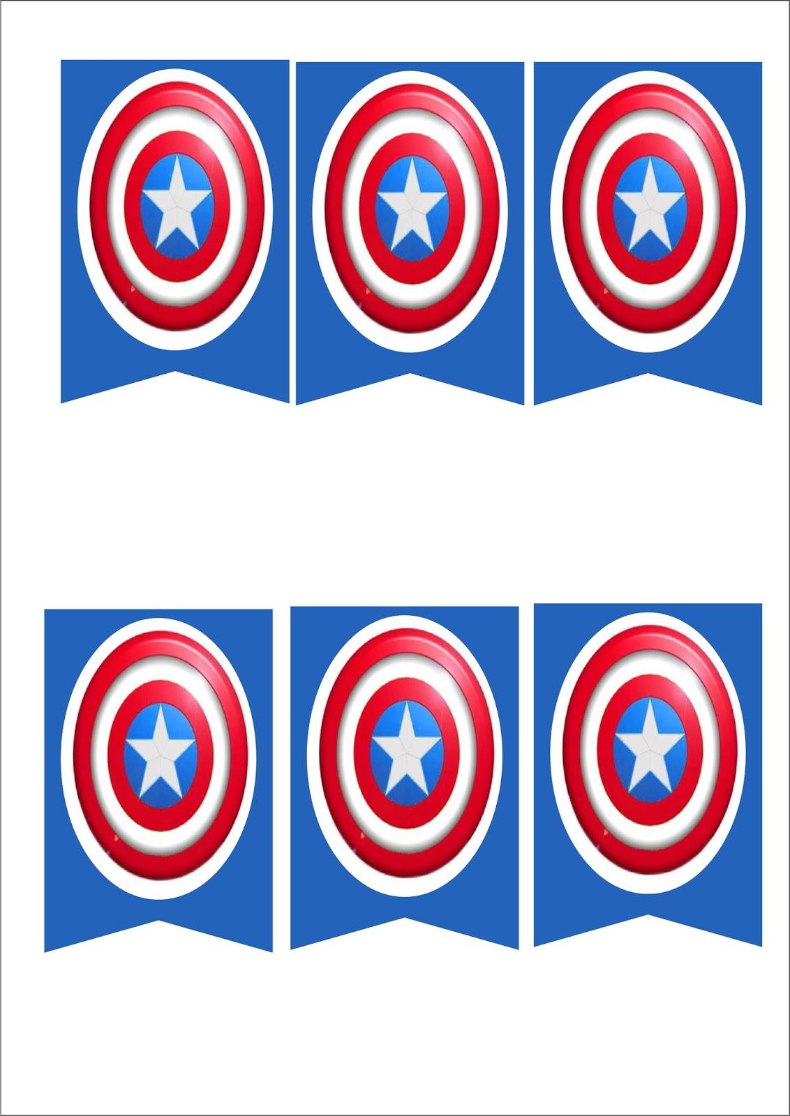 Escudo de capitan america para imprimir - Imagui